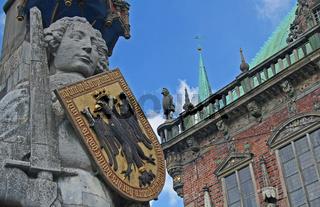 Rolandstatue vor dem Rathaus, Bremen, Germany