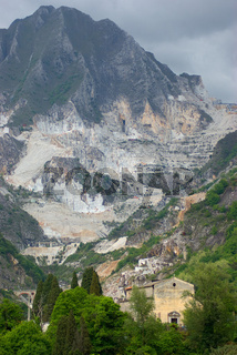 Marmor Steinbruch in Carrara, Italien - Marble quarry in Carrara, Italy