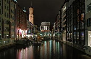 Hamburg Bleichenfleet Nachtaufnahme