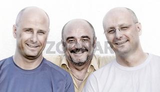 3 Glatzköpfe