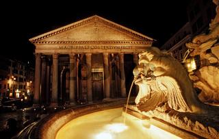 Brunnen am Pantheon