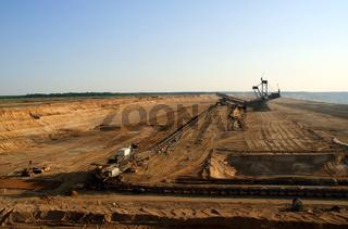 Braunkohle Tagebau / Brown Coal Mining