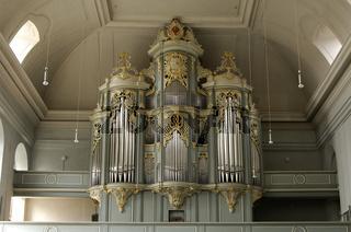 Barockorgel, Stiftskirche St. Gumbertus, Ansbach