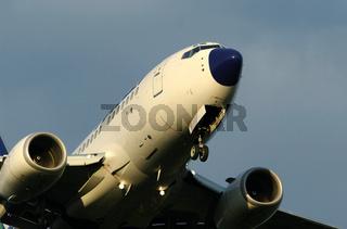Flugzeug vor der Landung