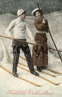 Fröhliche Weihnachten Postkarte erster Weltkeieg