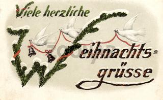 Weihnachtskarte von 1918
