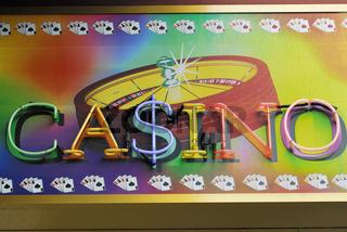 Leuchtreklame 'Casino'