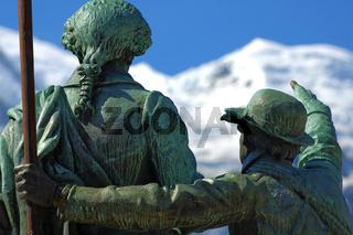 Mont Blanc Denkmal , Chamonix, France