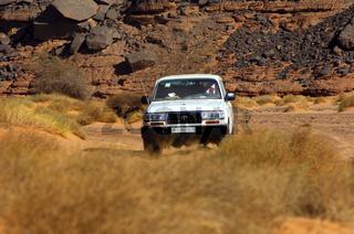 Jeep in der Wüsten