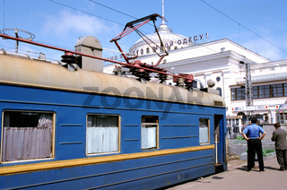Ukraine, Odessa, train on railway station