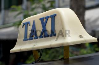 taxi schild