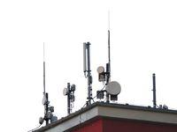 Funkantennen auf dem Dach