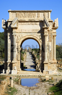 Antiker Triumphbogen Libyen