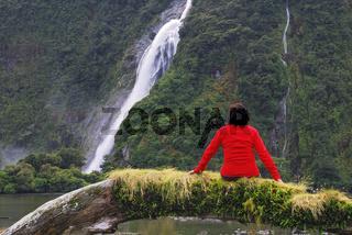 Blick zu den Bowen Falls