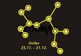 Sign of the zodiac archer