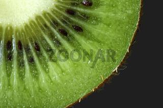 Viertel einer Kiwi