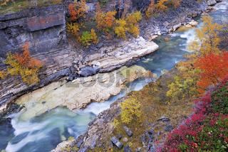 river, fluss, abisko-canyon, abisko national park, norrbotten, lapland, lappland, sweden, schweden, europe, europa