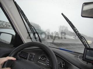 Fahren bei Regen