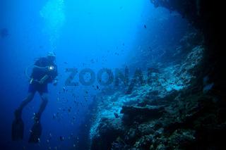 Taucher am Potato Reef