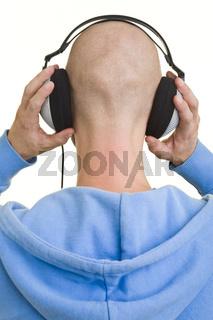 Kopfhörer von hinten