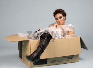 Girl in box