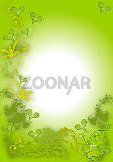 Karte grüner Hintergrund Schnörkel