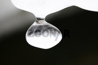 Glanzvoller Eiszapfen mit runder Form