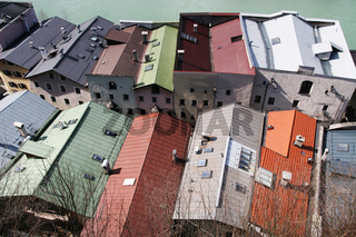bunte Dächer, coloured roofs