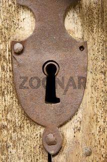 Rostiges Schlüsselloch rusty keyhole