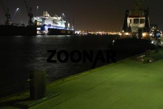 Hamburg, Hafen, Blohm + Voss Werft, Color Fantasy
