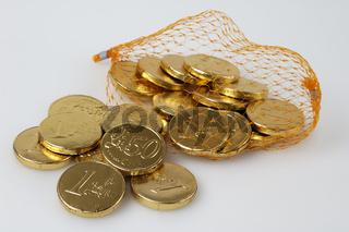 Euro-Münzen aus Schokolade | Euro coins made of chocolate