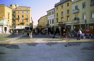 Old town Rimini Italy, City promenade, Rimini