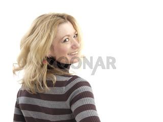 Sympathische Frau im Rollkragenpullover