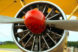 Propeller eines Doppeldeckers - Propeller of an single-engine biplane