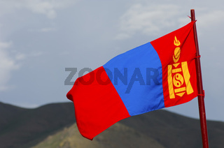Nationalflagge der Mongolei
