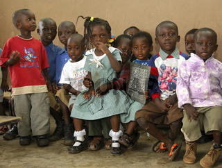 Vorschulkinder in einer Kindertagesstätte, Ghana