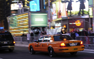 Taxi in New York/ Yellow cab taxi in New York