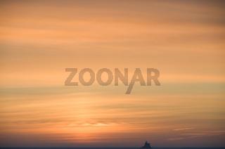 Sonnenuntergang auf dem Eis am Polarkreis - Sunset