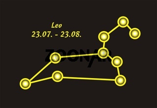 Sign of the zodiac leo