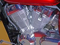 V2-Motor eines Motorrades
