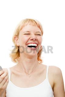 Laut lachen
