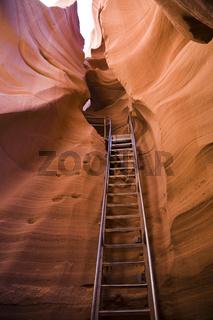 Ladder in Antelope Canyon