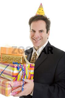 Manager bringt Geschenke