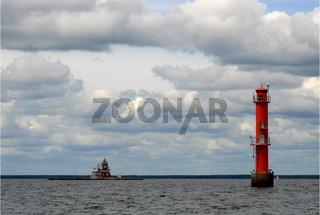 Dämman - Lighthouse old and new