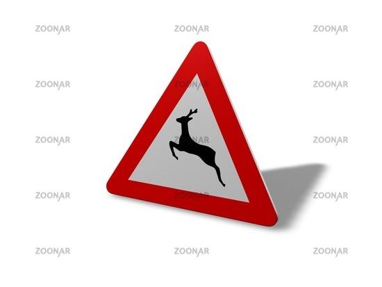 Wildwechsel Warnschild