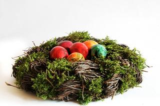 Nest mit Ostereiern - Easter basket