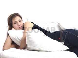 Junge Frau relaxed