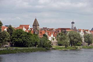 Metzgerturm und Donauufer Ulm