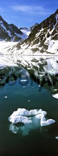 Spitzbergen, Svalbard, Norwegen, norway, see, lake, berge, mountains