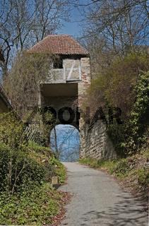 Reste der ehemaligen Burg in Herrenberg